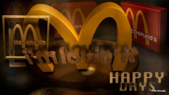 3d mac donalds yellow logo Japan