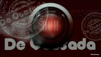 Dark red round button with text Japan