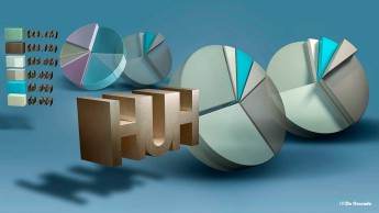 Advertising gallery 3d gallery colourful pie chart with number statistics