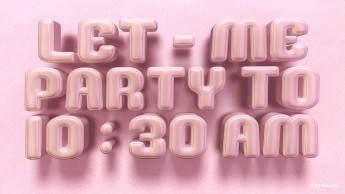 3d gallery pink text