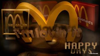 Advertising gallery 3d mac donalds yellow logo