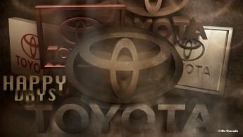Advertising gallery 3d toyota logo