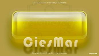 Branding gallery yellow glass rectangular stone with text