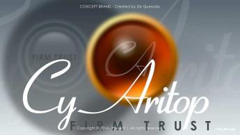 Branding gallery orange round button with text