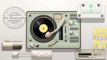 Graphic design gallery old fashioned light green vinyl player