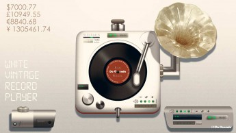 Graphic design gallery old fashioned silver vinyl player