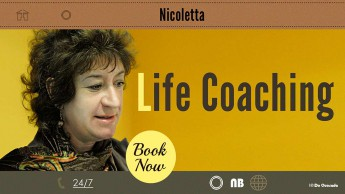 Web design gallery home page of Nicoletta website