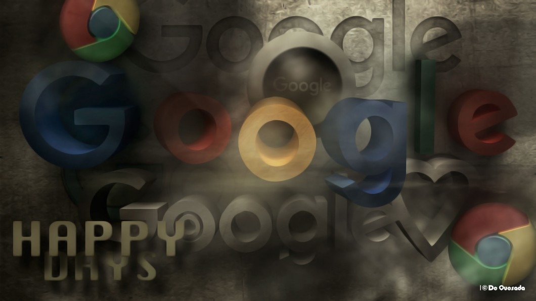Colourful google 3d logo