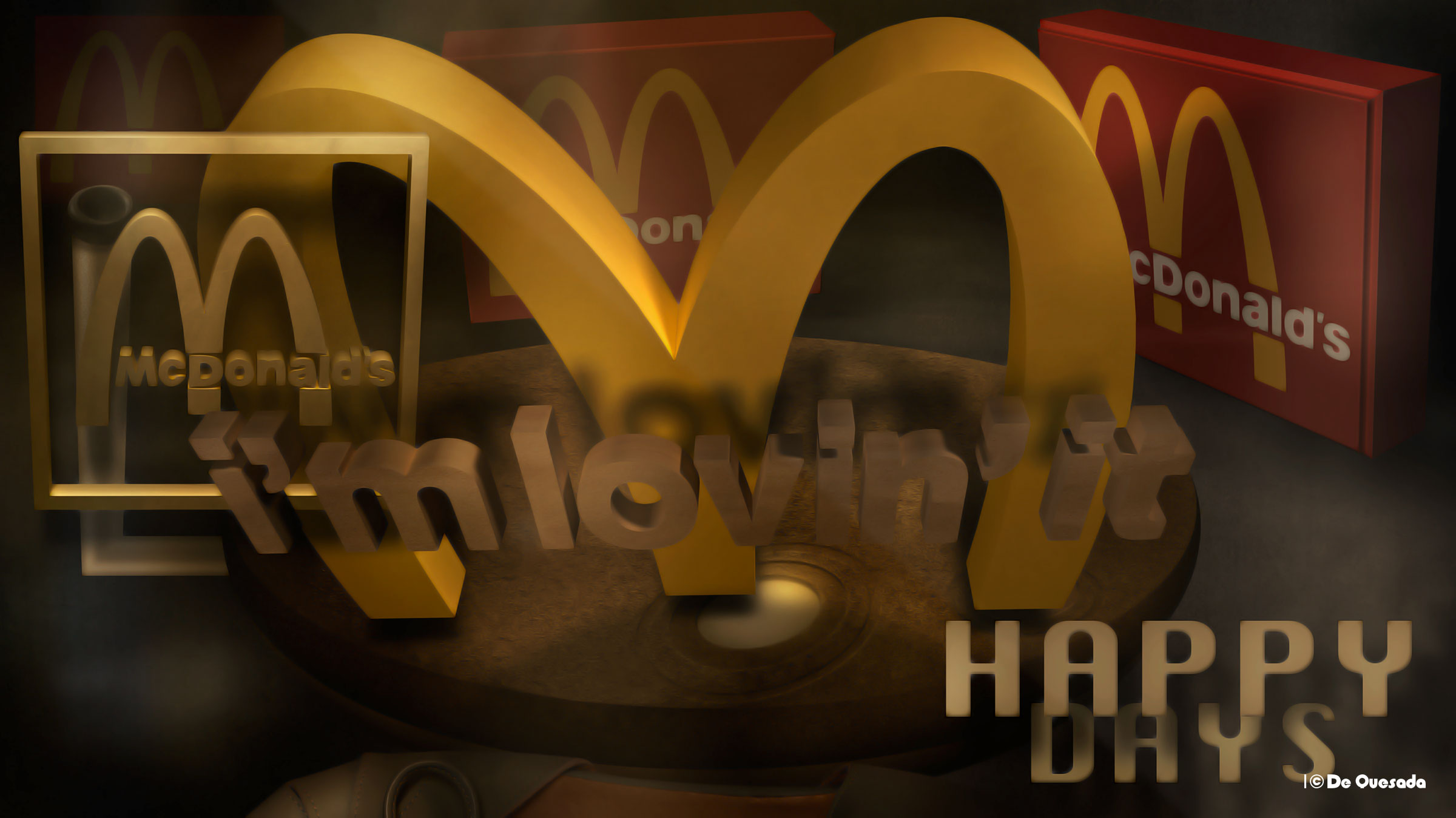 Happy Days, 3d Mac Donalds Yellow Logo